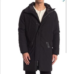 Slate and stone Hooded Zip Front Jacket (nh8)